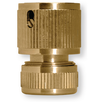Hose connector wo waterstop brass