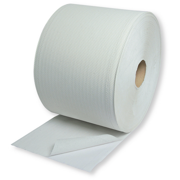 Rollo papel uso industrial blanco, 230 mm X 475 m, (2 rollos)
