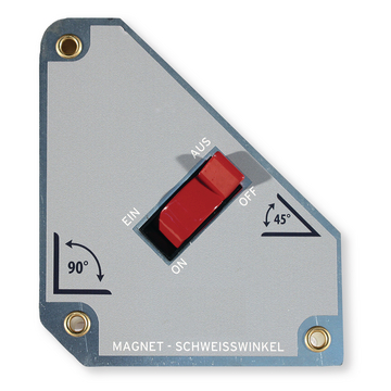Magnet welded angle switchable