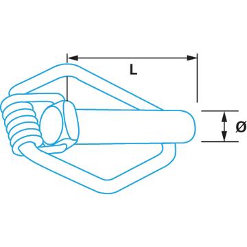 goupille de s curit acier bichromat type canu berner. Black Bedroom Furniture Sets. Home Design Ideas