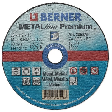 METALline PREMIUM cutting Discs 76x1,2x10 mm