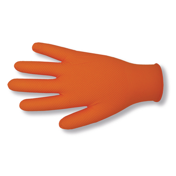 Gants jetables - nitrile orange GRIP Premium T. M