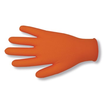 Disposable glove - nitrile orange Grip
