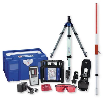 Rotating laser Multi HV-R set with tripod and measuring rod