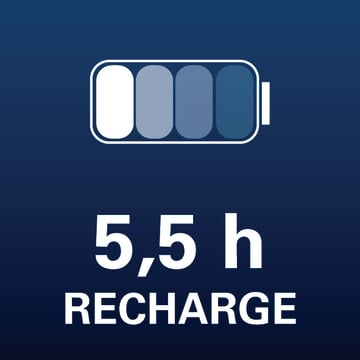 5,5 h recharge