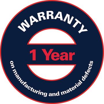 Warranty 1 year