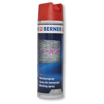 Spray de marquage rouge 180° fluorescentes