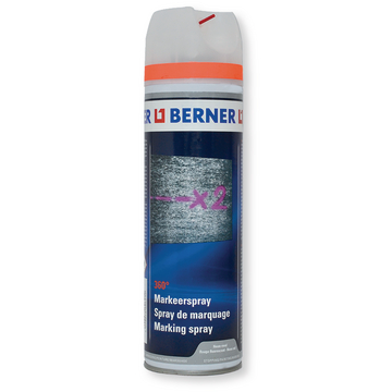 Spray de marquage rouge 360° fluorescentes
