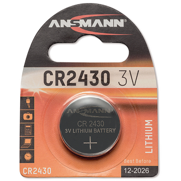 BUTTON CELL 3 V CR2430