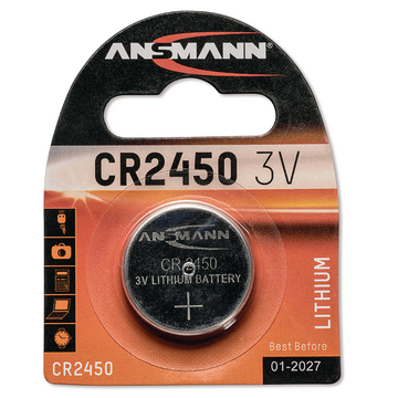 BUTTON CELL 3 V CR2450