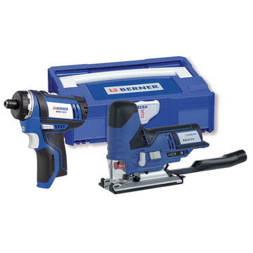 Cordless Screwdriver BACS-1 12 V &Cordless Jig Saw BACJS 12 V, in BC+