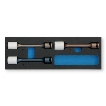 3-teiliges Set im Werkzeugkoffer beschichtet Radmutter-Stecknüsse