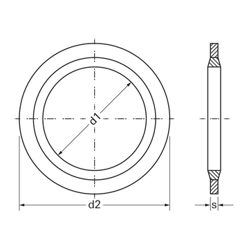 Steel/rubber sealing rings_technical drawing