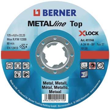 Afbraamschijf METALline Top 125 x 6,0 mm X-LOCK bol