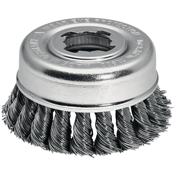 BRAID-POT BRUSH  75MM X-LOCK