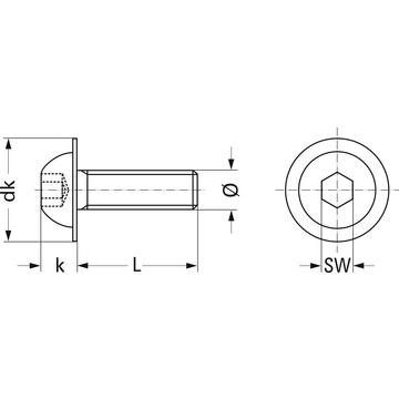 flachkopfschraube iso 7380 2 stahl 10 9 verzinkt mit flansch berner. Black Bedroom Furniture Sets. Home Design Ideas