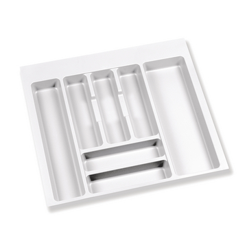Range-couverts Optima Slim Concept long. 422 mm blanc