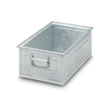 stapelkasten hxbxt 200x200x300 mm stahlblech lochung. Black Bedroom Furniture Sets. Home Design Ideas