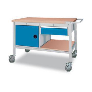 werkstattwagen hxbxt 859x1200x750 mm multiplex 40 mm schublade fl gelt r. Black Bedroom Furniture Sets. Home Design Ideas