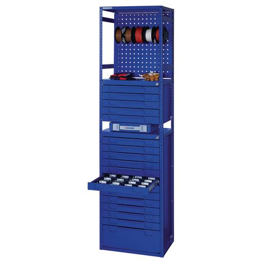 armoire de rangement 18 tiroirs et tableau porte outils bera module berner. Black Bedroom Furniture Sets. Home Design Ideas