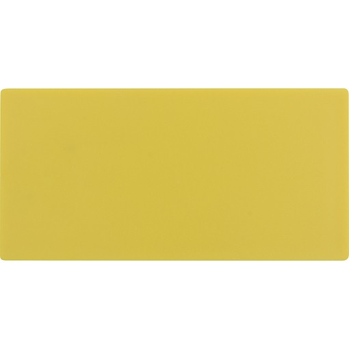 Leerschild KZS glatt gelb unbedruckt