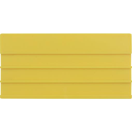 Leerschild KZS genutet gelb unbedruckt