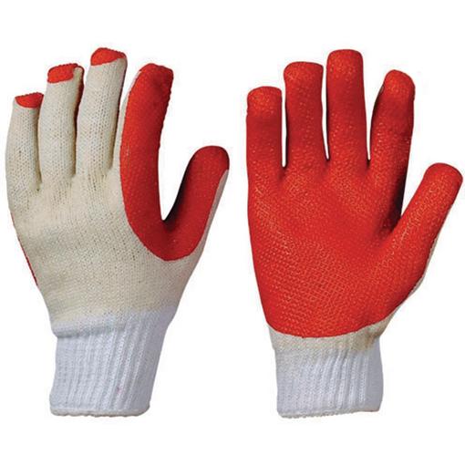Latex-Handschuh Supergrip, Größe 10, 12 Paar Farbe: rot/weiß
