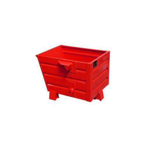 Kipp-Behälter,0,30m³,HxBxT 600x600x800mm,Tragl. 500kg,RAL3000
