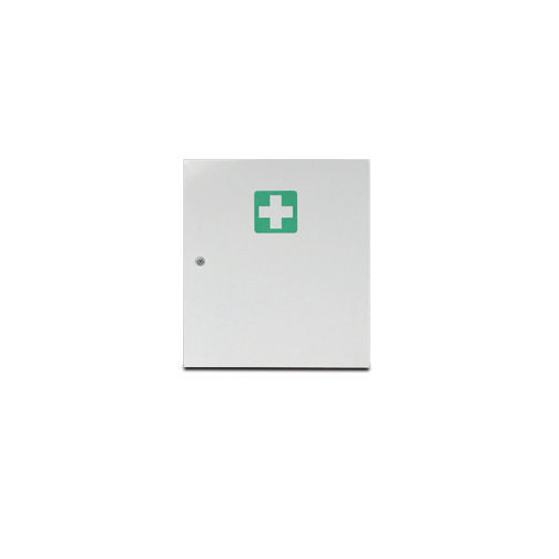 Erste-Hilfe-Schrank,leer,DIN 13169 E,HxBxT 400x455x110mm,Stahlblech