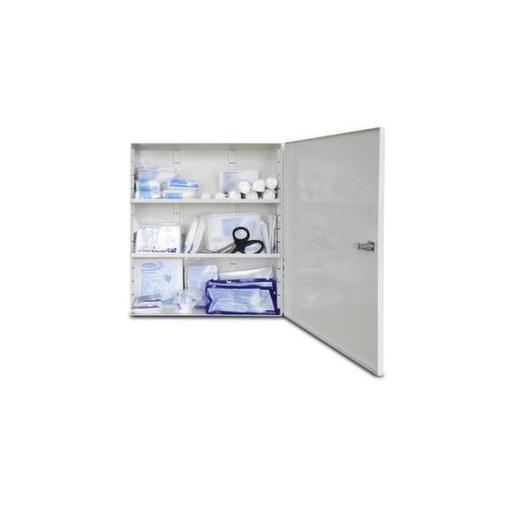 Erste-Hilfe-Schrank,m. DIN-Füllung,DIN 13169 E,HxBxT 400x455x110mm