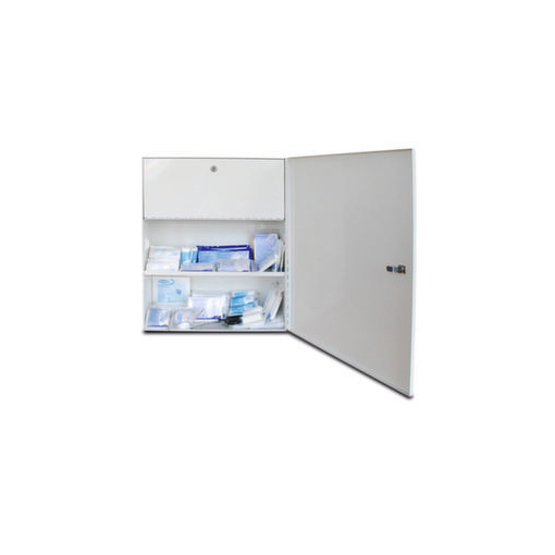 Erste-Hilfe-Schrank,m. DIN Füllung,DIN 13169 E,Giftfach