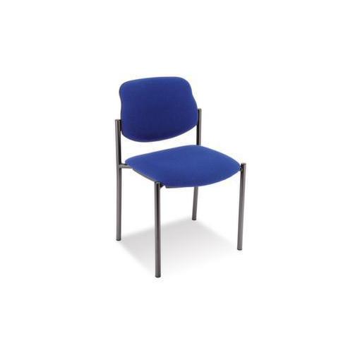 Besucherstuhl,Bezug blau,Sitz BxT 450x460mm,Gestell schwarz