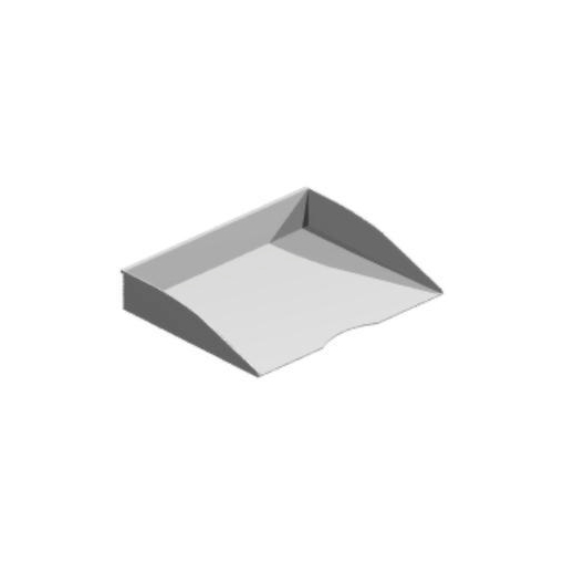 Einhängeschale,f. Organisations-Reling,DIN A4,Metall
