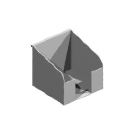 Zettelbox,f. Organisations-Reling,HxBxT 110x100x100mm,Metall