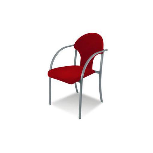 Besucherstuhl,Stoff dunkelrot,Sitz BxT 550x450mm,Gestell alusilber