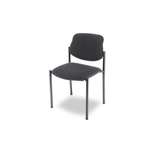 Besucherstuhl,Bezug anthrazit,Sitz BxT 450x460mm,Gestell schwarz