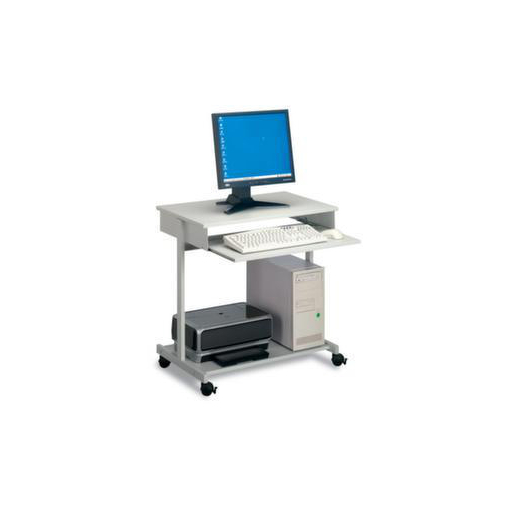 PC-Tisch,HxBxT 750x750x450mm,4 Rollen,2 Fachböd...
