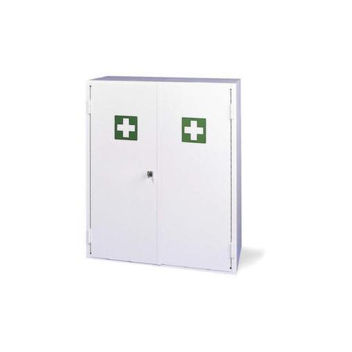 Erste-Hilfe-Schrank,leer,DIN 13169 E,HxBxT 700x660x250mm,Stahlblech