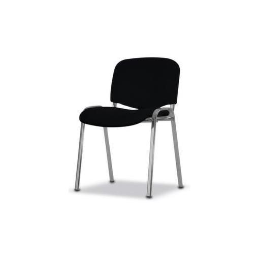 Stahlrohrstuhl,Stoff schwarz,Sitz BxT 475x415mm,Gestell alusilber