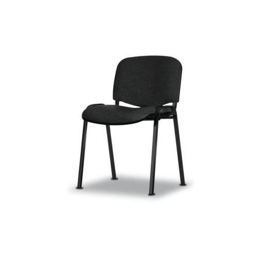 Stahlrohrstuhl,Stoff dunkelgrau,Sitz BxT 475x415mm,Gestell schwarz