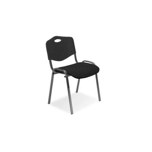 Stahlrohrstühle,Sitz dunkelgrau,Rücken Kunststoff schwarz