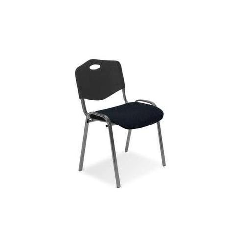Stahlrohrstühle,Sitz schwarz,Rücken Kunststoff schwarz,Sitz BxT 475x415mm