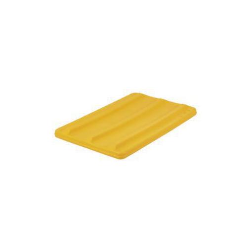 Deckel,f. Mobilen Rechteck-Behälter,135l,gelb