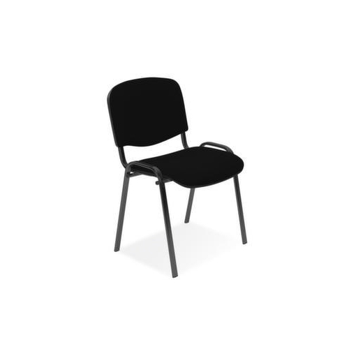 Besucherstuhl,Stoff schwarz,Sitz BxT 475x415mm,Gestell schwarz