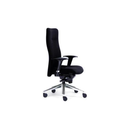 24-Stunden-Bürodrehstuhl,schwarz,Sitz HxBxT 420...