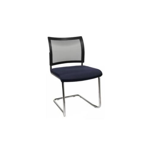Besucherstuhl,Sitz dunkelblau,Netzrücken schwarz,Sitz HxBxT 450x480x450mm