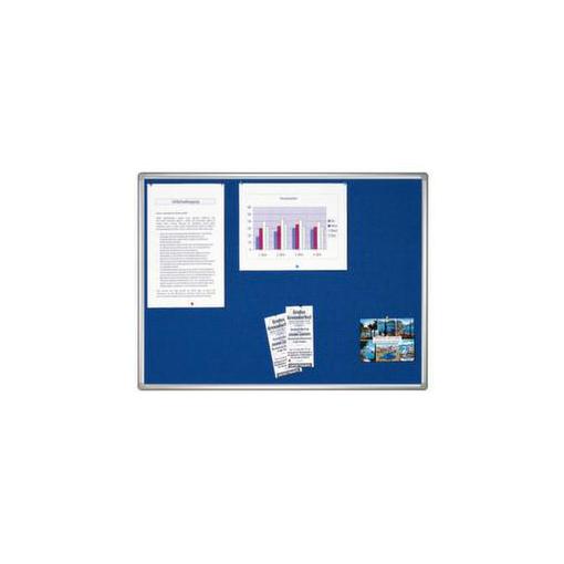 Pinntafel,f. Wandschienensystem,Filz,HxB 1000x1500mm,blau
