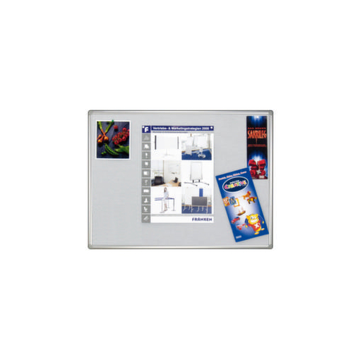 Pinntafel,f. Wandschienensystem,Filz,HxB 1000x1500mm,silber