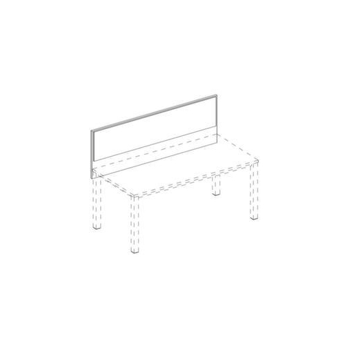 Trennwand,Frontelement,f. Schreibtisch,NN-Nuss,BN1008-hellbrau