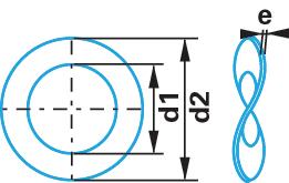 rondelles ressort ondul es din 137 acier ressorts zingu forme b berner. Black Bedroom Furniture Sets. Home Design Ideas